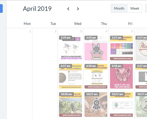Instagram scheduling tool