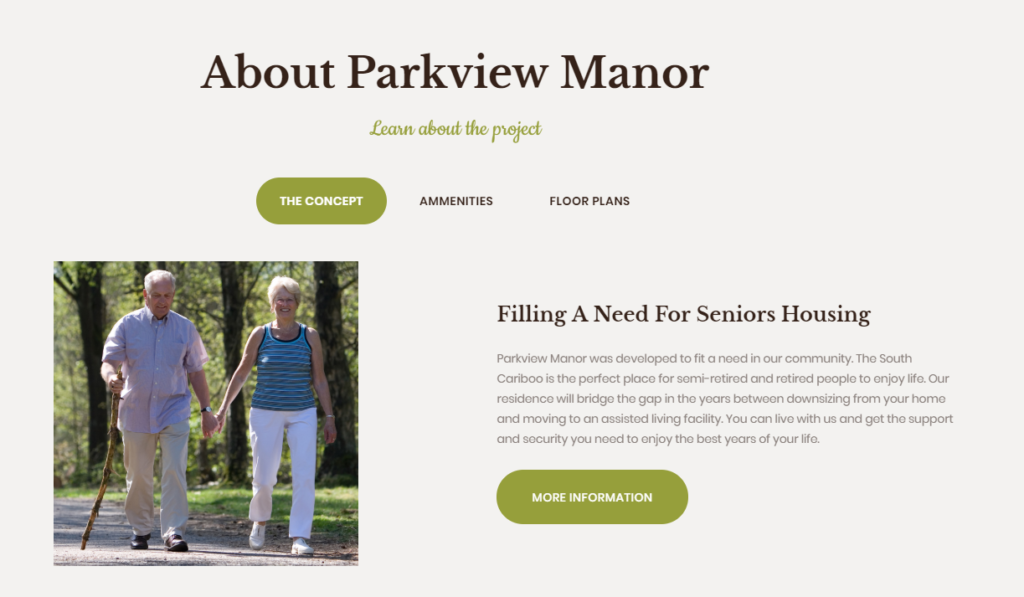 Parkview Manor Marketing Project