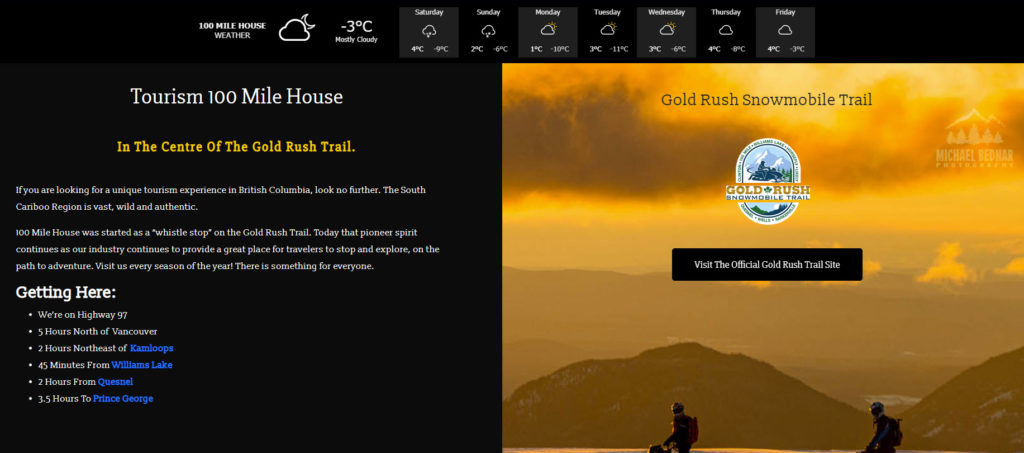 Goldrush Trail tourism