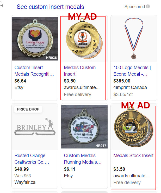 shopping ad example